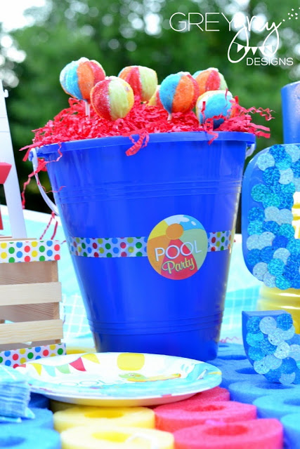 Summer pool party ideas baby shower ideas themes for Garden pool party ideas