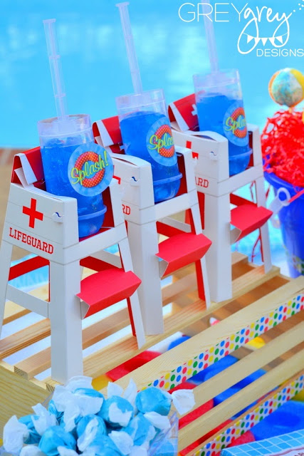 Baby Shower Pool Party Ideas pool party ideas baby shower favors Summer Pool Party Decorations Outdoor Party
