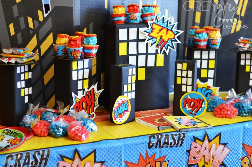 Superhero Birthday Party - Baby Shower Ideas - Themes - Games