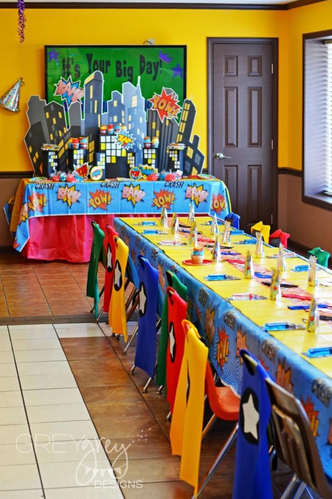 Superhero birthday party baby shower ideas themes games