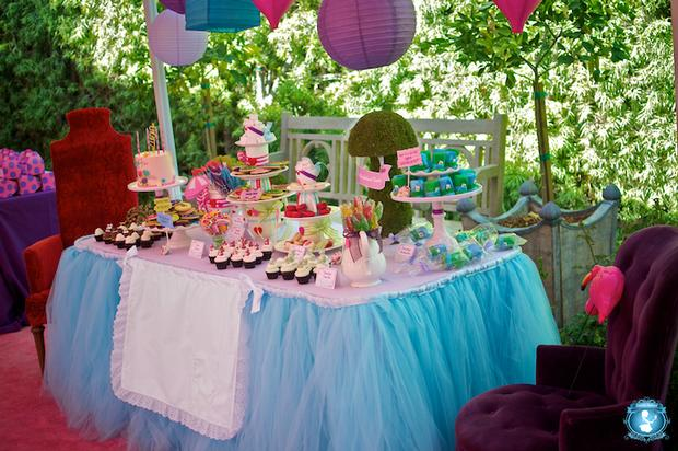 Alice in wonderland party baby shower ideas themes games - Alice in the wonderland party decorations ...