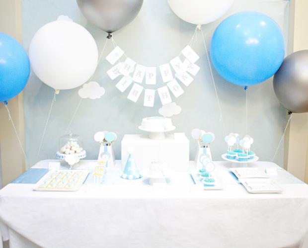 balloon themed first birthday party decoration ideas Baby Shower