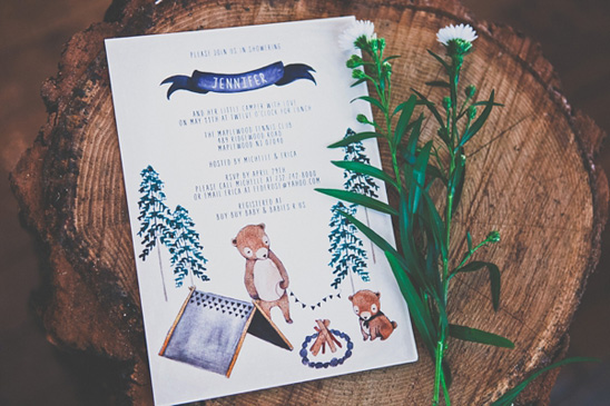 Camping Themed Baby Shower Ideas Camping Themed Baby Shower ...
