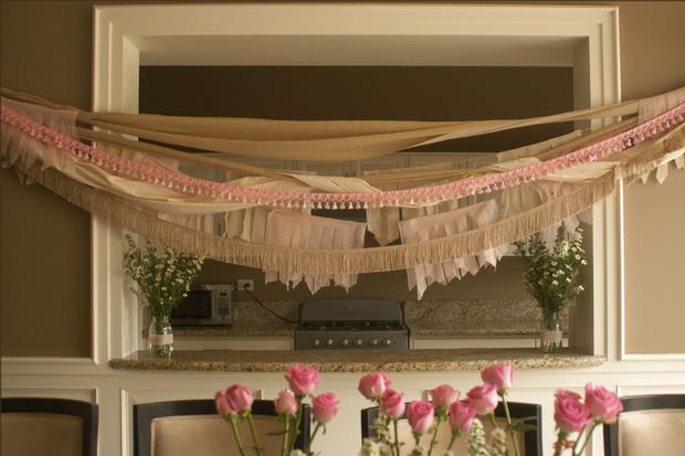 Florals Flowers Fringe Baby Shower Ideas, Burlap And Pink Baby Shower Decor  ...