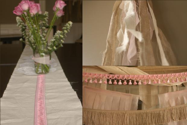 fringe baby shower ideas burlap and pink baby shower decoration ideas
