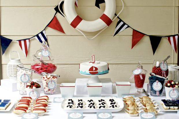 Nautical themed party baby shower ideas themes games