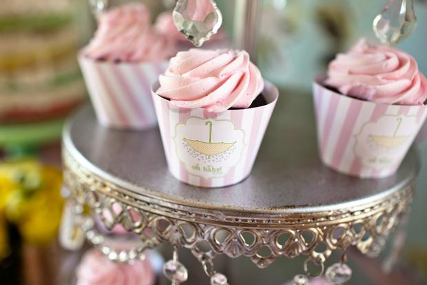 sprinkle baby shower cupcakes