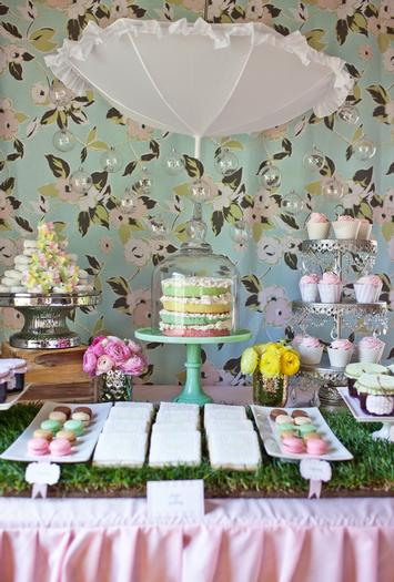 Sprinkle Baby Shower Dessert Table Decorations