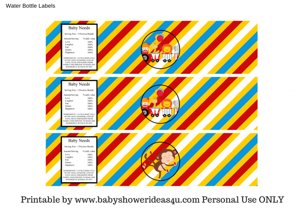 Baby Shower Ideas — FREE Circus Printables