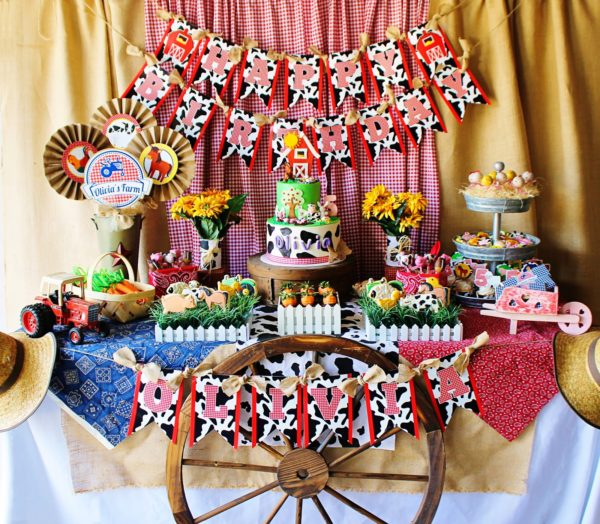 Cute Farm Party   Farm Animal Baby Shower Ideas