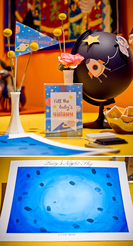 space themed baby shower