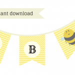 FREE Mommy-to-BEE Baby Shower Printable