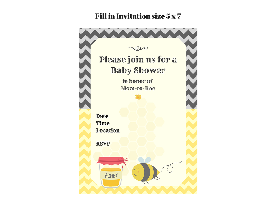 to bee baby shower printable baby shower ideas themes games