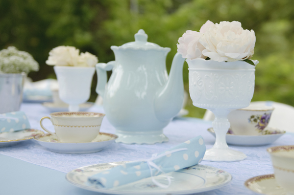 Blue White Tea Party Baby Shower