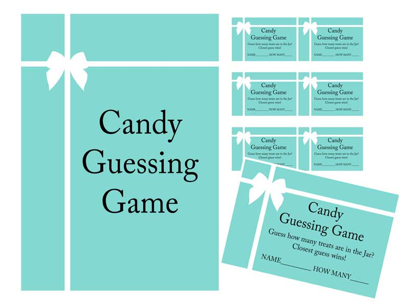 Candy Guessing Game Card Baby Shower Ideas Themes Games