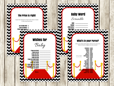 Hollywood Themed Baby Shower Games And Activities Baby Shower