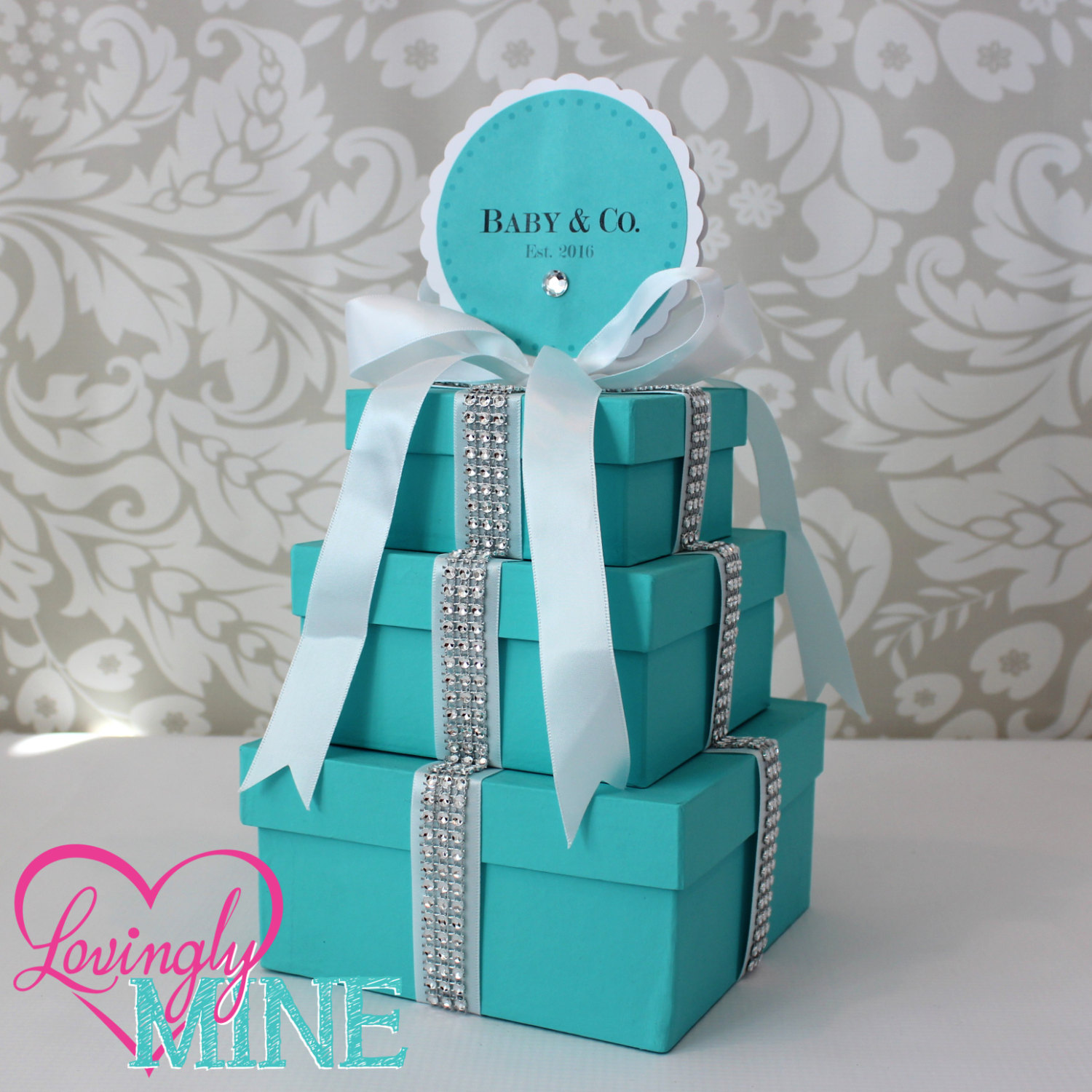tiffany baby shower centerpiece Baby Shower Ideas Themes Games