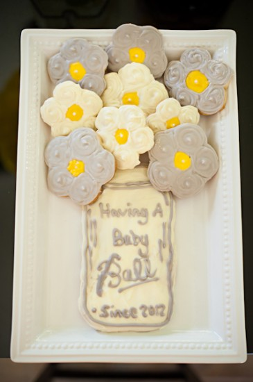 Yellow Grey And White Baby Shower Baby Shower Ideas