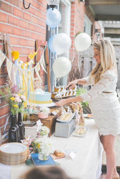 Whimsical Winnie The Pooh Baby Shower Decorations And Main Table