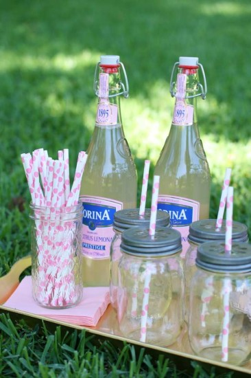 pink themed drinks