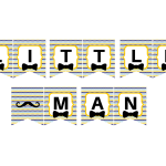 Free Printable Little Man Banner