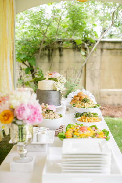 outdoor co ed baby shower food table baby shower ideas themes