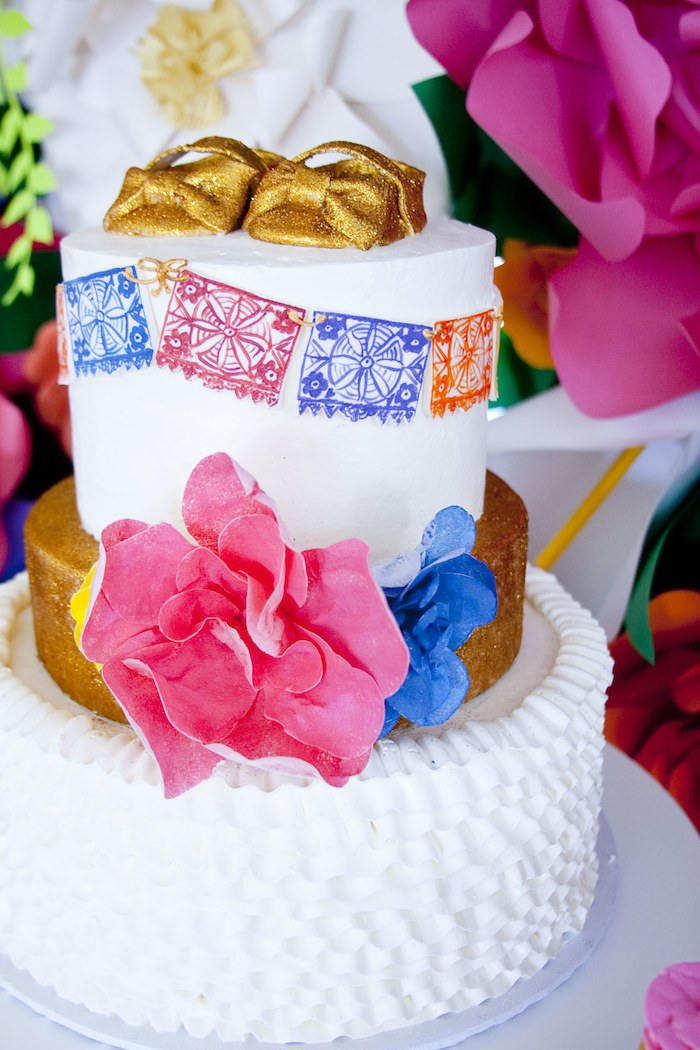 colorful festive mexican baby shower cake