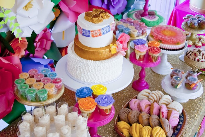 Nice Colorful Festive Mexican Baby Shower Dessert And Food Table