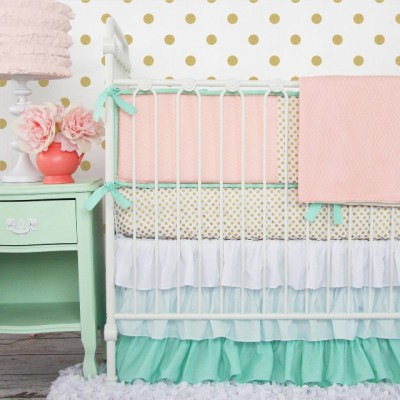 mint_and_coral_chevron_w_gold_dots_