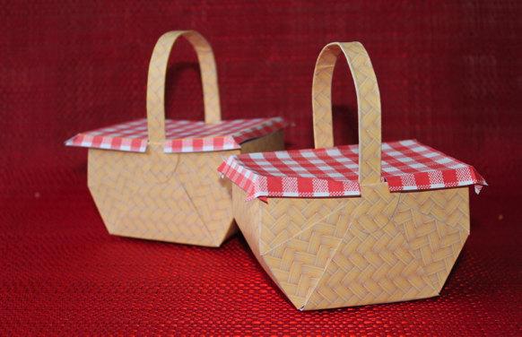 picnic basket favor box printable instant download wedding favor