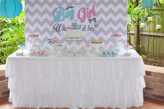 What Will It Bee Gender Reveal dessert table