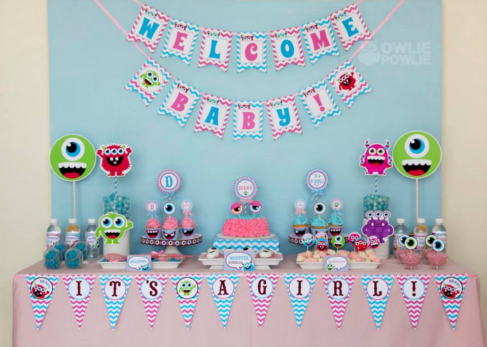 Baby Showers Dessert Table ~ Candy themed baby shower dessert table custom baby shower cakes