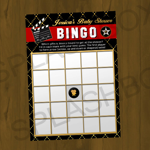 Hollywood Red Carpet Printable Bingo Cards - A Star is ...