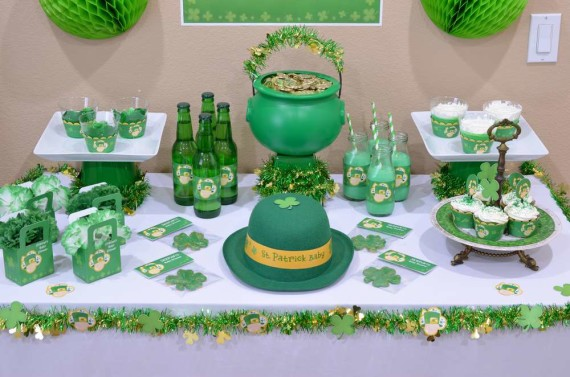 St-Patricks-Baby-Shower-Little-Shamrock-is-on-the-way-dessert-table