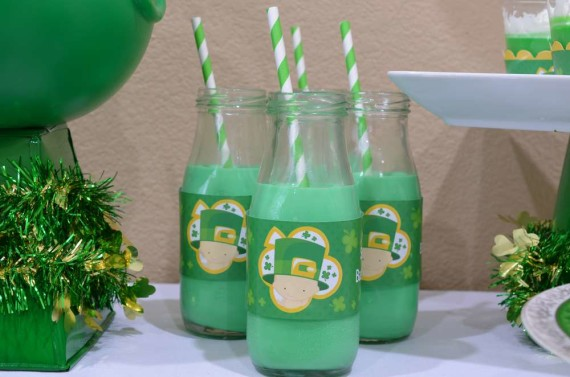 St-Patricks-Baby-Shower-Little-Shamrock-is-on-the-way-drinking-jars-with-labels