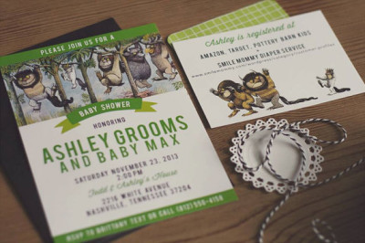 where the wild things are baby shower - baby shower ideas - themes, Baby shower invitations