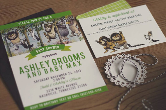 Where The Wild Things Are Baby Shower Invitation Baby Shower