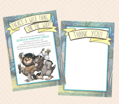 Where The Wild Things Are Inspired Invitation And Thank You Note