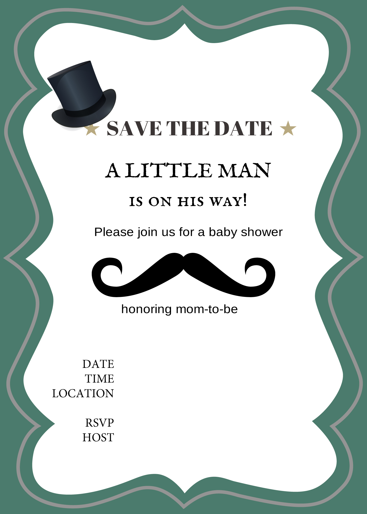 a little man is on his way invitation Baby Shower Ideas Themes