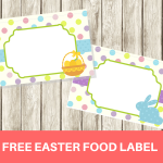 FREE Easter Food Labels