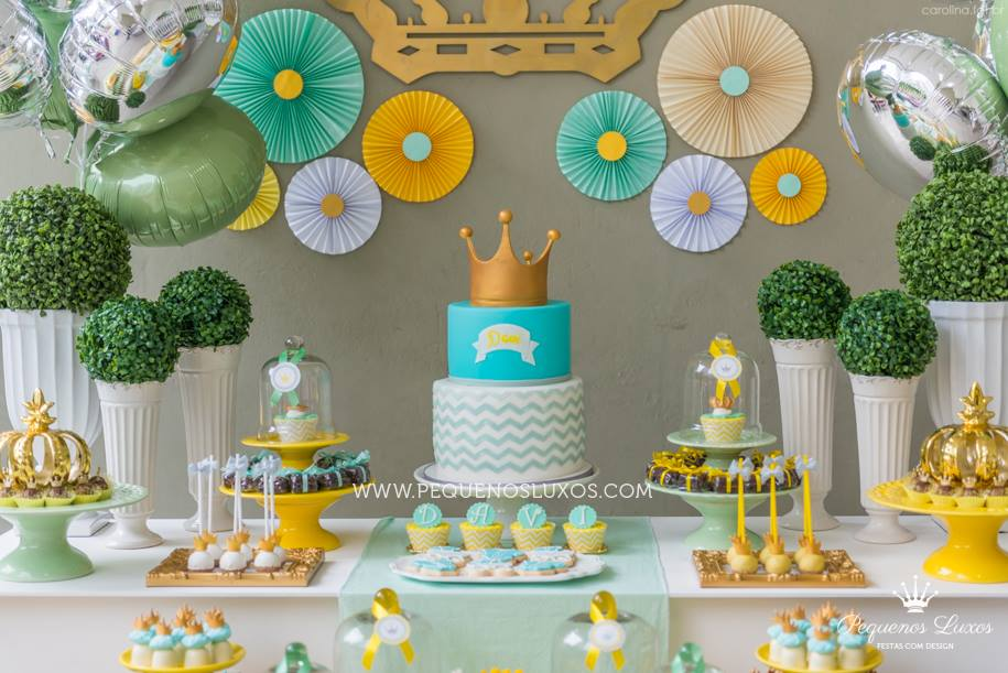 little prince crown baby shower in olive mint gold baby shower ideas