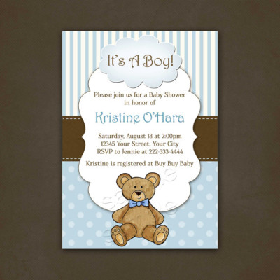 Teddy bear themed baby shower ideas baby shower ideas themes games boy teddy bear baby shower invitation printable filmwisefo Image collections