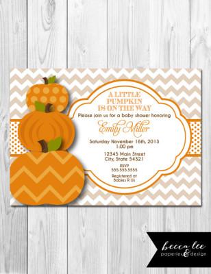 ... Little Pumpkin Baby Shower Invitation ...