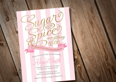 ... Printable Sugar And Spice Baby Shower Invitation ...