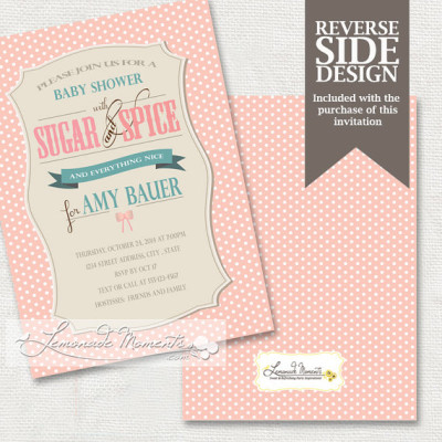 ... Sugar And Spice Baby Shower InvitationPrintable Sugar And Spice And  Everything ...