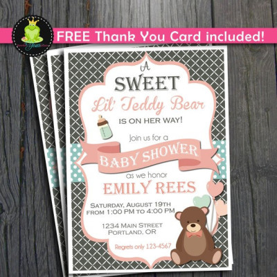 Teddy bear themed baby shower ideas baby shower ideas themes games teddy bear baby shower invitation filmwisefo Image collections