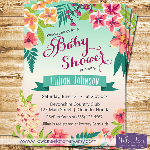 Co-Ed Baby Shower Invitation for luxury invitations sample