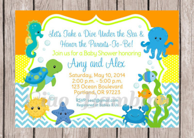under the sea baby shower invitation baby shower ideas themes