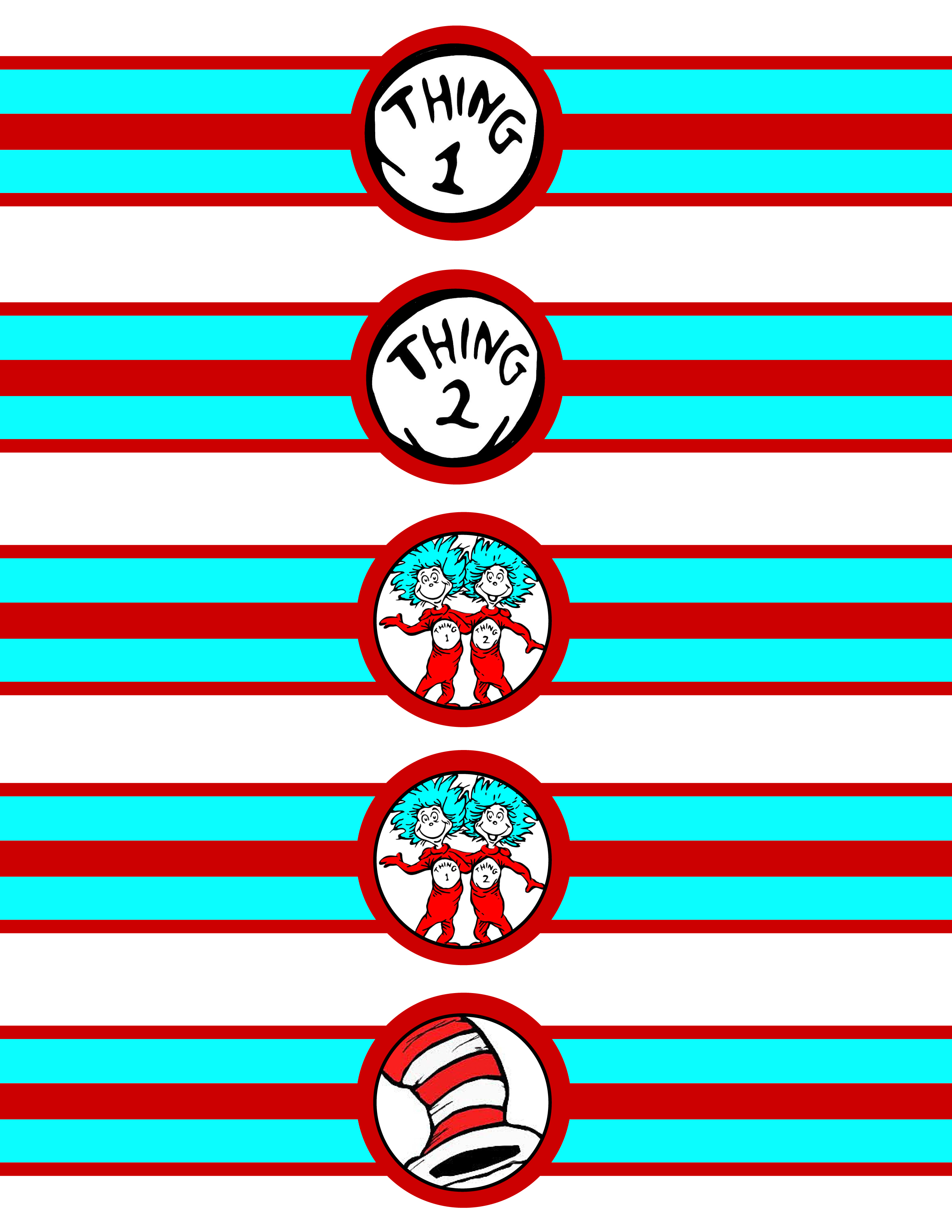 dr seuss thing 1 thing 2 napkin wrappers baby shower ideas