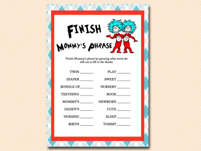 Dr Seuss Twin Baby Shower Theme Baby Shower Ideas